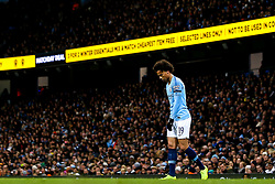 Leroy Sane of Manchester City cuts a dejected figure - Mandatory by-line: Robbie Stephenson/JMP - 01/11/2018 - FOOTBALL - Etihad Stadium - Manchester, England - Manchester City v Fulham - Carabao Cup