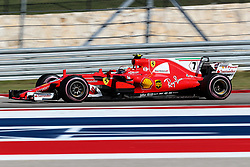 October 22, 2017 - Austin, Texas, U.S - Ferrari driver Kimi Raikkonen (7) of Finland in action during the Formula 1 United States Grand Prix race at the Circuit of the Americas race track in Austin,Texas. (Credit Image: © Dan Wozniak via ZUMA Wire)