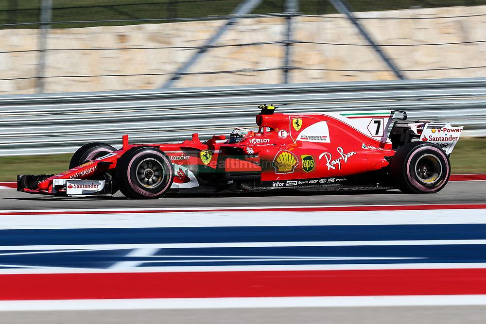 October 22, 2017 - Austin, Texas, U.S - Ferrari driver Kimi Raikkonen (7) of Finland in action during the Formula 1 United States Grand Prix race at the Circuit of the Americas race track in Austin,Texas. (Credit Image: © Dan Wozniak via ZUMA Wire)