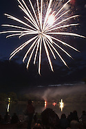 Middletown, NY - Fireworks explode in the sky over the lake at Fancher-Davidge Park on June 30, 2007.