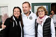 Kick-off De Hollandse 100 2019 van Lymph&Co bij de Jaap Eden IJsbaan in Amsterdam.Lymph&Co is een initiatief van Bernhard van Oranje en heeft als doel de financiering van wetenschappelijk onderzoek naar de aard en behandeling van lymfklierkanker te steunen. <br /> <br /> Op de foto:  Prins Bernhard, Prinses Annette en Prinses Margriet