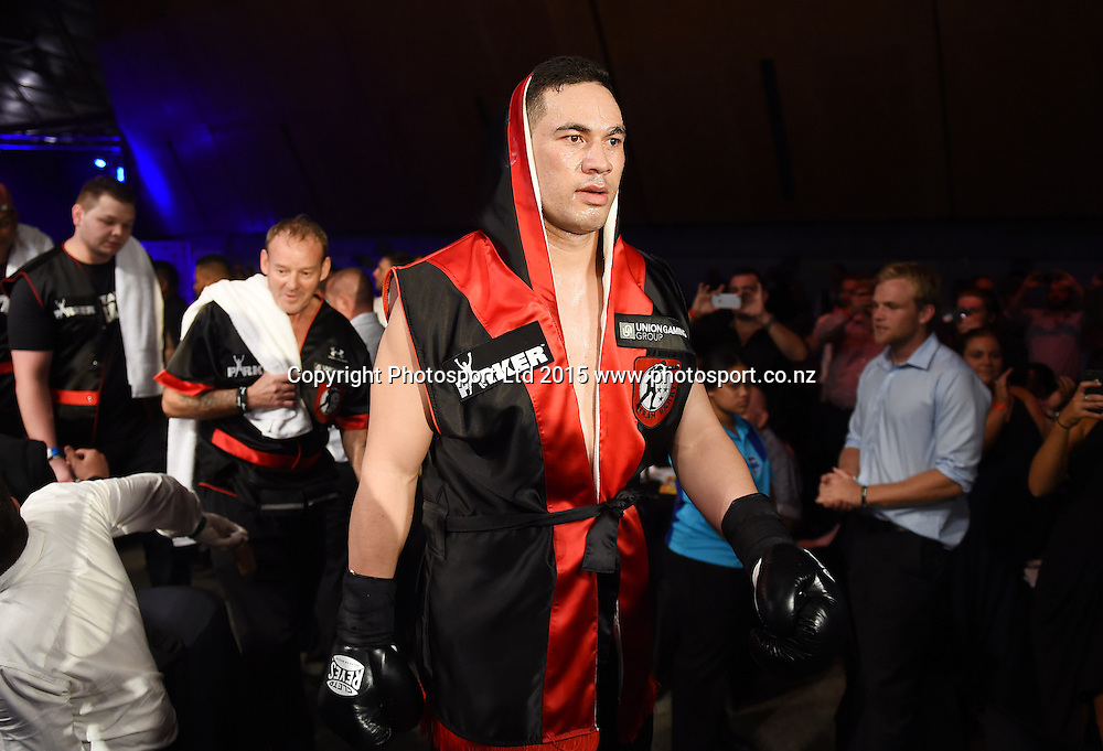 Joseph Parker versus Jason Pettaway. Heavyweight Boxing. Burger King Road to the Title, Vodafone Arena, Auckland, New Zealand. Thursday 5 March 2015. Copyright Photo: Andrew Cornaga / www.photosport.co.nz.