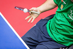 TABLE TENNIS RACKET AND BALL during day 5 of 15th EPINT tournament - European Table Tennis Championships for the Disabled 2017, at Arena Tri Lilije, Lasko, Slovenia, on October 2, 2017. Photo by Ziga Zupan / Sportida