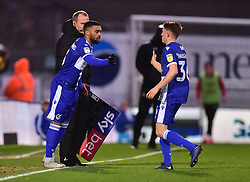 Cameron Hargreaves is replaced by Tareiq Holmes-Dennis of Bristol Rovers of Bristol Rovers - Mandatory by-line: Alex James/JMP - 11/01/2020 - FOOTBALL - Memorial Stadium - Bristol, England - Bristol Rovers v Doncaster Rovers - Sky Bet League One