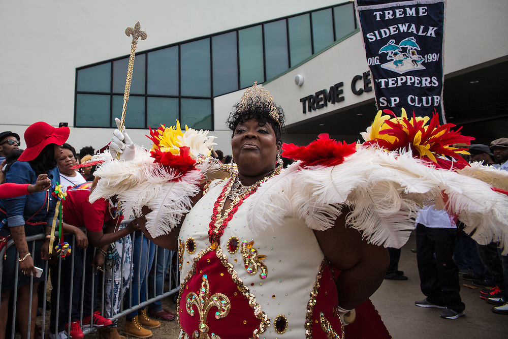 Feb. 1, 2015, New Orleans LA, . Queen of the Treme Sidewalk Steppers 31st Annual Second Line Parade.