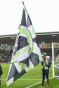 Flagbearer during the The FA Cup match between Forest Green Rovers and Billericay Town at the New Lawn, Forest Green, United Kingdom on 9 November 2019.