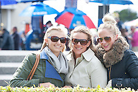03/08/2012.Nikki Knowles, Remi Powell and Caroline Cooke from Norfolk in the Uk in Galway for the Races. Photo:Andrew Downes