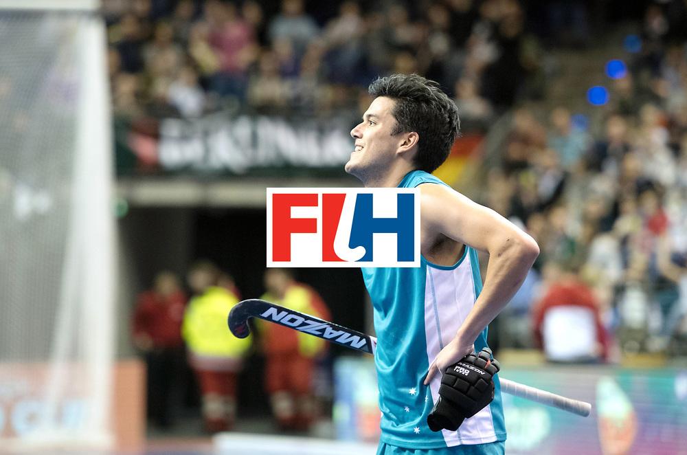 BERLIN - Indoor Hockey World Cup<br /> Bronze: Iran - Australia<br /> foto: Thomas Sinclair <br /> WORLDSPORTPICS COPYRIGHT FRANK UIJLENBROEK