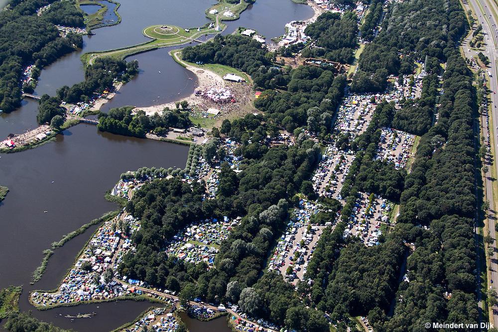 "Luchtfotoreportage gemaakt van het openluchtfestival PSY-FI ""Out of the Void"" in recreatiegebied De Groene Ster in Leeuwarden."