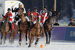 Bautista Ortiz de Urbina for team Switzerland going for the ball<br /> Match Germany - Switzerland<br /> St.Moritz Polo World Cup On Snow 2011<br /> © Dirk Caremans