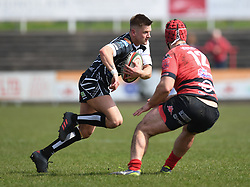 Pontypridds' Lloyd Rowlands<br /> Photographer Mike Jones/Replay Images<br /> <br /> Aberavon RFC v Pontypridd RFC <br /> Principality Premiership<br /> Saturday 14th April 2018<br /> Talbot Athletic Ground<br /> <br /> World Copyright © Replay Images . All rights reserved. info@replayimages.co.uk - http://replayimages.co.uk