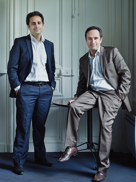 PARIS, FRANCE. JUNE 10, 2013. Brothers Jean-Jacques and Steve Ohana, Riskelia, in their office. Photo: Antoine Doyen