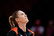 SYDNEY, NSW - JUNE 16: Caitlin Bassett of the Giants warms up prior to the game during the round 8 Super Netball match between the Sydney Swifts and the Giants at Qudos Bank Arena on June 16, 2019 in Sydney, Australia.(Photo by Speed Media/Icon Sportswire)
