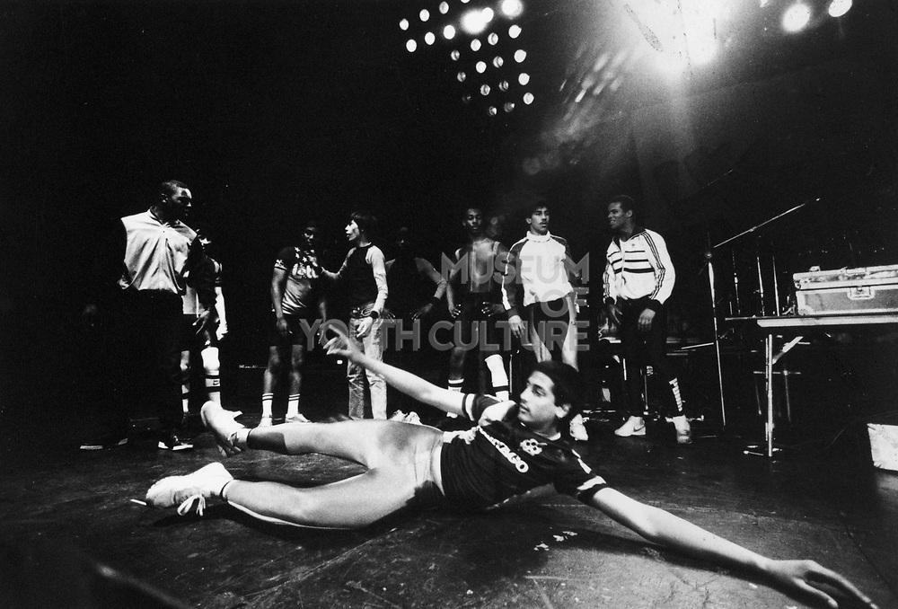 Break dancers at UK Fresh Event, Wembley, London, UK, 1986