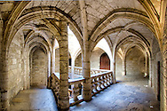 Magnificent vaulted renaissance ceilings of the H&ocirc;tel des Barons de Lacoste, built in the 16th century in the centre of the medieval town of  P&eacute;zenas, in the South of France. During 17th century Jean-Baptiste Poquelin or Moli&egrave;re, one of France&rsquo;s most renowned actors and playwrights lived in P&eacute;zenas and worked with his company called L'Illustre Th&eacute;&acirc;tre for such nobles as The Prince of Conti, Governor of Languedoc.<br /> Today this building houses the art gallery of the celebrated Artist Nicole Fernandez.