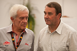 16.07.2011, Groebming, AUT, Ennstal Classic 2011, Chopard Grand Prix, im Bild Organistaor Helmut Zwickl und Nigel Mansell // during Chopard Grand Prix at the Ennstal Classic 2011 in Groebming, Austria on 16/7/2011. EXPA Pictures © 2011, PhotoCredit: EXPA/ J. Groder