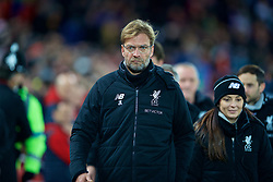 LIVERPOOL, ENGLAND - Boxing Day, Tuesday, December 26, 2017: Liverpool's manager Jürgen Klopp before during the FA Premier League match between Liverpool and Swansea City at Anfield. (Pic by David Rawcliffe/Propaganda)