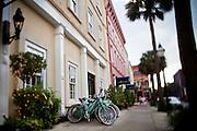 View of the Vendue Hotel and Vendue Range in Charleston, SC.
