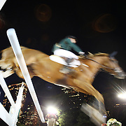 Riders in action during the $210,000 Central Park Show Jumping Grand Prix held in the Wollman Ice Rink. The event was part of the four Day Central Park Horse Show. Central Park, Manhattan, New York, USA. 18th September 2014. Photo Tim Clayton