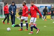 Middlesbrough defender Martin Cranie warms up ahead of the EFL Sky Bet Championship match between Burton Albion and Middlesbrough at the Pirelli Stadium, Burton upon Trent, England on 2 April 2018. Picture by Aaron  Lupton.