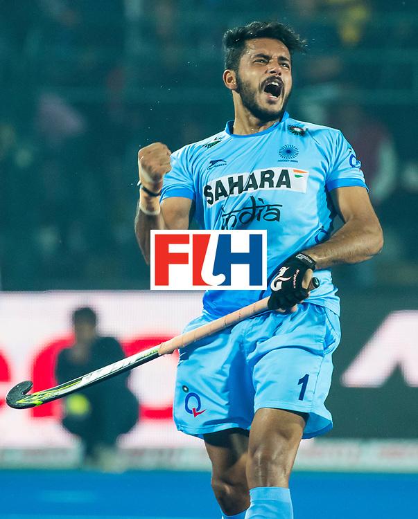 LUCKNOW (India) -   Junior World Cup hockey  U21 for men . INDIA v SPAIN (QF) (2-1) . Harmanpreet Singh scored de winning goal.  (India) COPYRIGHT  KOEN SUYK