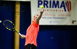 Maks Lukman in action during Slovenian National Tennis Championship 2019, on December 21, 2019 in Medvode, Slovenia. Photo by Vid Ponikvar/ Sportida