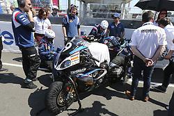 April 21, 2018 - Le Mans, SARTHE (72, FRANCE - 9 TECMAS BMW (FRA) BMW S1000RR Formula EWC DA COSTA Julien (FRA) HEDELIN Camille (FRA) PERRET David (FRA) BONNOT Maxime  (Credit Image: © Panoramic via ZUMA Press)