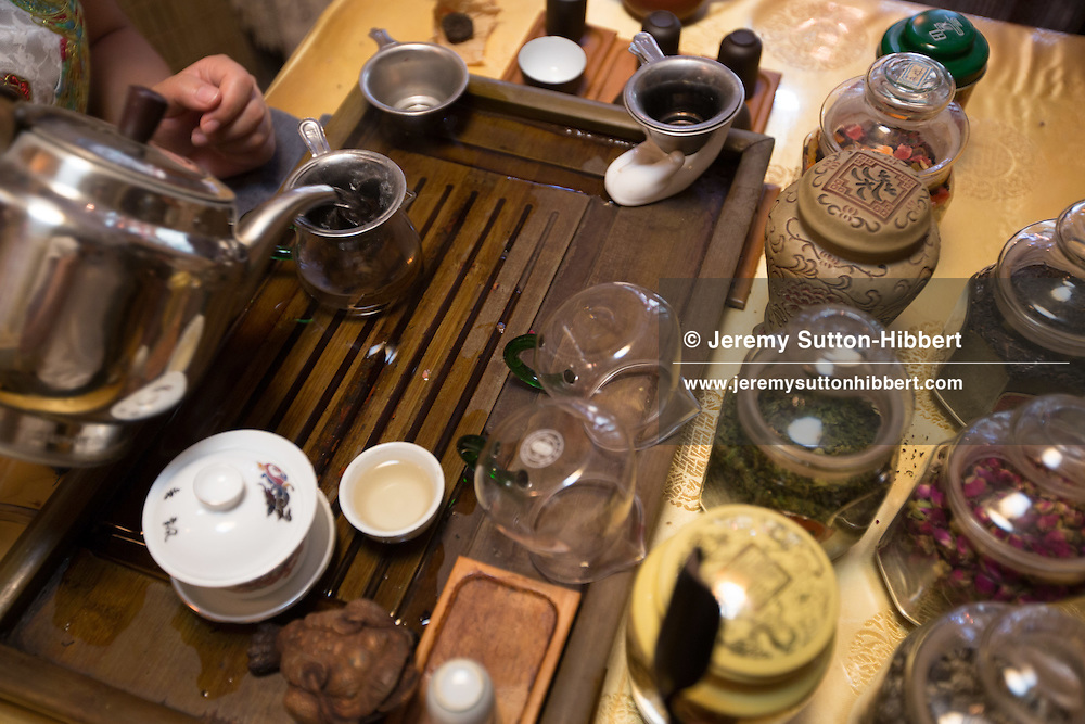 Chinese tea ceremony, in Beijing, China, Monday 28th May 2012.