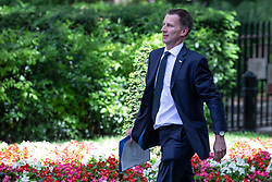 © Licensed to London News Pictures. 06/06/2018. London, UK. Secretary of State for Health and Social Care Jeremy Hunt on Downing Street. Photo credit: Rob Pinney/LNP