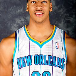 October 1, 2012; Westwego, LA, USA; New Orleans Hornets power forward Anthony Davis (23) poses for a portrait during Media Day at the Alario Center. Mandatory Credit: Derick E. Hingle-US PRESSWIRE