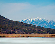 View of the San Francisco Peaks from Mormon Lake - Northern Arizona