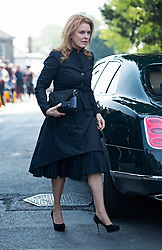 © London News Pictures. 21/04/2014 . Davington, UK. Sarah Ferguson arriving before the service.  The Funeral of Peaches Geldof. at St Mary Magdalene and St Lawrence Church in the village of Davington, Kent. Peaches Geldof, daughter of Irish singer-songwriter and political activist Bob Geldof, died on Apr. 7 at her home in southeastern England. Her death still remains unexplained.  Photo credit : Ben Cawthra/LNP