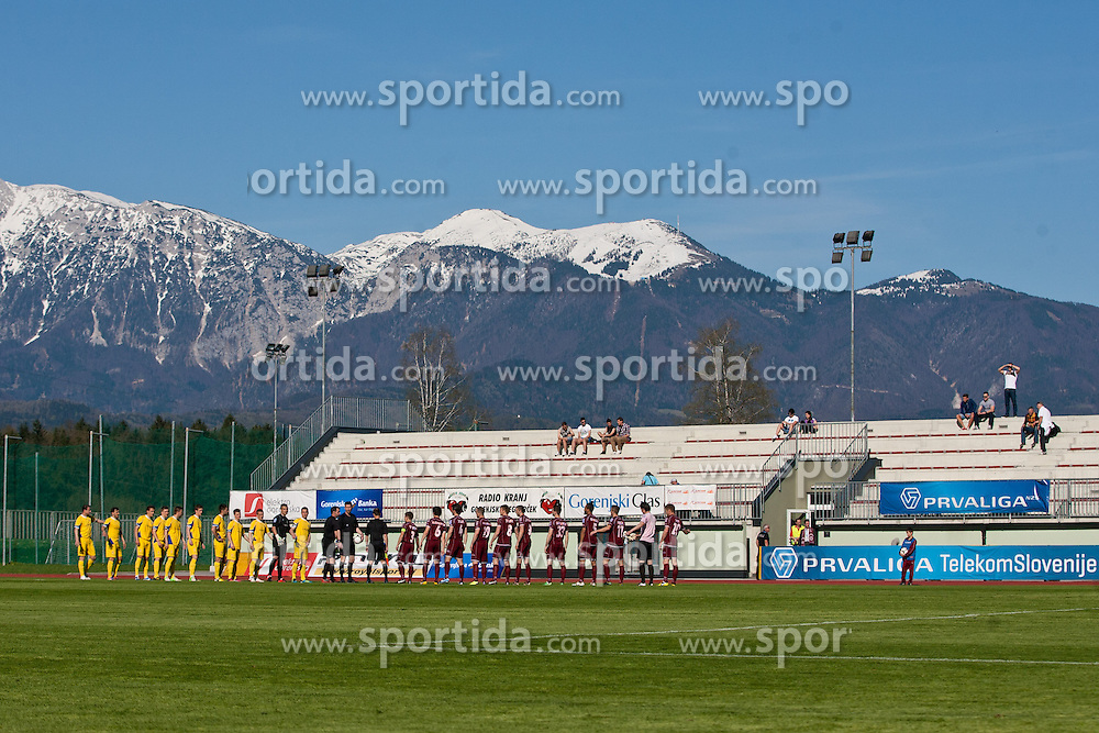 Football match between NK Triglav and NK Domzale in 23th Round of Slovenian First League PrvaLiga NZS 2012/13 on April 24, 2013 in Sports park Kranj, Slovenia. (Photo by Grega Valancic / Sportida)