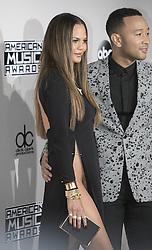 November 20, 2016 - Los Angeles, California, U.S - John Legend and Chrissy Teigen on the Red Carpet of the  2016 American Music  Awards held on Sunday, November  20, 2016 at the Microsoft  Theatre in Los Angeles, California. (Credit Image: © Prensa Internacional via ZUMA Wire)