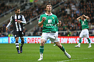 Picture by Paul Chesterton/Focus Images Ltd.  07904 640267.18/03/12.Jonny Howson of Norwich rues a missed chance during the Barclays Premier League match at St James' Park Stadium, Newcastle.