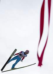 04.01.2015, Bergisel Schanze, Innsbruck, AUT, FIS Ski Sprung Weltcup, 63. Vierschanzentournee, Innsbruck, 1. Wertungssprung, im Bild Stefan Kraft (AUT) // Stefan Kraft of Austria soars trought the air during his first competition jump for the 63rd Four Hills Tournament of FIS Ski Jumping World Cup at the Bergisel Schanze in Innsbruck, Austria on 2015/01/04. EXPA Pictures © 2015, PhotoCredit: EXPA/ JFK