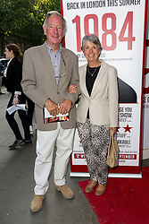 © Licensed to London News Pictures. 18/06/2015. London, UK. Michael Buerk arrives at the press night for 1984 at the Playhouse Theatre, Northumberland Avenue in London tonight. Photo credit : Vickie Flores/LNP