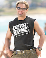 SYDNEY, AUSTRALIA, FEBRUARY 25, 2011: Josh Koscheck poses on Bondi Beach in Sydney, Australia on February 25, 2011.