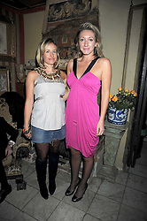 Left to right, TAMSIN LONSDALE and JOSIE GOODBODY at a party to celebrate the launch of Atelier-Mayer.com held at 83 Princedale Road, London W11 on 15th January 2009.