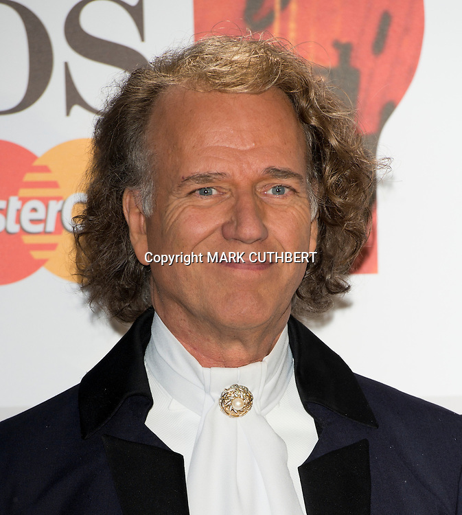 Andre Rieu arriving at the 2012 Classic Brit Awards at the Royal Albert Hall in London.