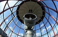 Babylon, NY,  October 25, 2016: --- Looking up at the lens in the lantern room at the to of the Fire Island Lighthouse.                                              © Audrey C. Tiernan