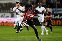 FOOTBALL - FRENCH CHAMPIONSHIP 2011/2012 - L1 - OLYMPIQUE MARSEILLE v OGC NICE  - 6/11/2011 - PHOTO PHILIPPE LAURENSON / DPPI - JORDAN AYEW (OM) / DRISSA DIAKITE (NIC)