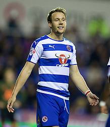 READING, ENGLAND - Tuesday, September 22, 2015: Reading's Chris Gunter in action against Everton during the Football League Cup 3rd Round match at the Madejski Stadium. (Pic by David Rawcliffe/Propaganda)