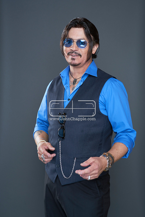 February 22, 2016. Las Vegas, Nevada.  The 22nd Reel Awards and Tribute Artist Convention in Las Vegas. Celebrity lookalikes from all over the world gathered at the Golden Nugget Hotel for the annual event. Pictured is Johnny Depp lookalike, Ronnie Rodriguez.<br /> Copyright John Chapple / www.JohnChapple.com /