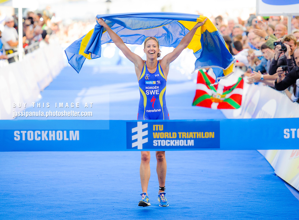 STOCKHOLM, SWEDEN - AUGUST 2012: Picture from ITU World Triathlon Stockholm 2012, Photo by Jussi Panula