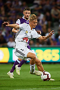 PERTH, AUSTRALIA - APRIL 28: Ben Waine of Wellington Phoenix deep in attack during the A-League Match between then Wellington Phoenix v Perth Glory FC at HBF Park on April 28, 2019 in Perth, Australia. (Photo by Daniel Carson / Photosport)