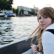 NLD/Amsterdam/20120812 - Varen door de Amsterdamse grachten, Diana Janssen