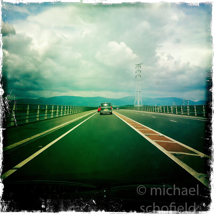 Clackmannan Bridge..Hipstamatic images taken on an Apple iPhone..©Michael Schofield.