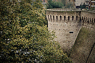 Ramparts of the city wall around Jesi, Marche, Italy.