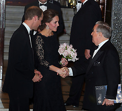The Duke and Duchess of Cambridge leaving the Royal Variety Performance at the London Palladium, London, UK. 13/11/2014<br />